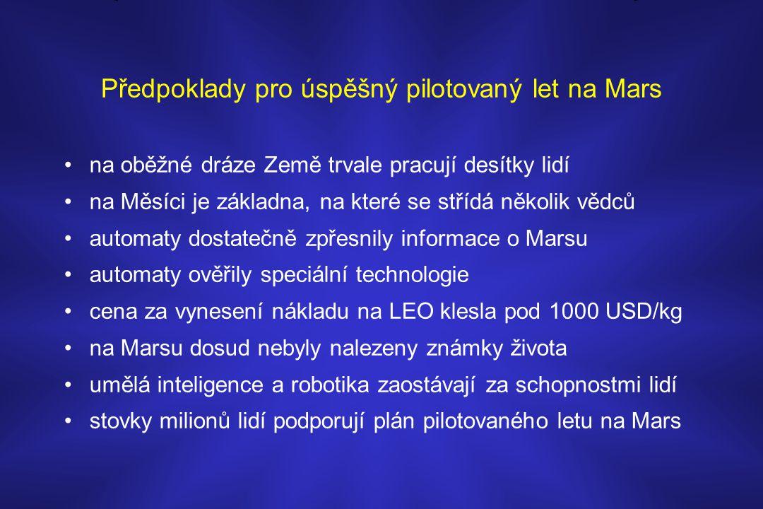 Předpoklady pro úspěšný pilotovaný let na Mars