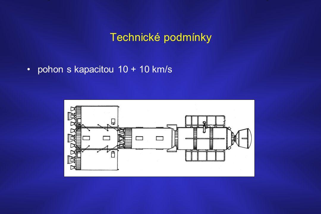 Technické podmínky pohon s kapacitou 10 + 10 km/s