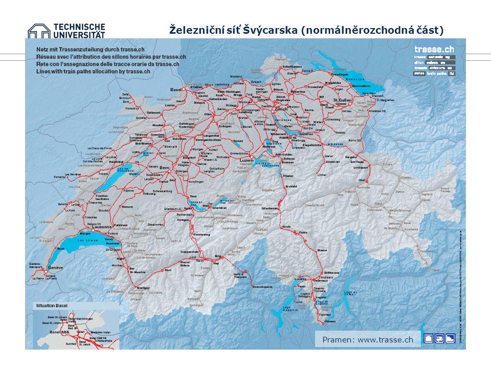 Železniční síť Švýcarska (normálněrozchodná část)