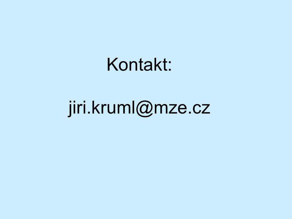 Kontakt: jiri.kruml@mze.cz
