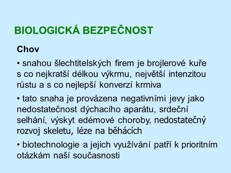 BIOLOGICKÁ BEZPEČNOST