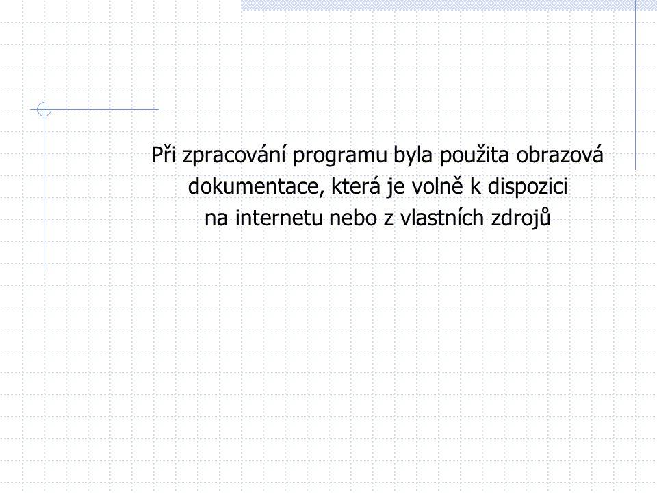 Při zpracování programu byla použita obrazová