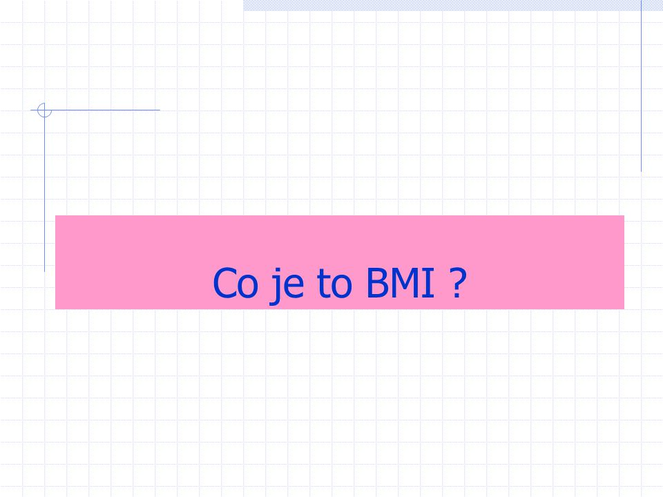 Co je to BMI