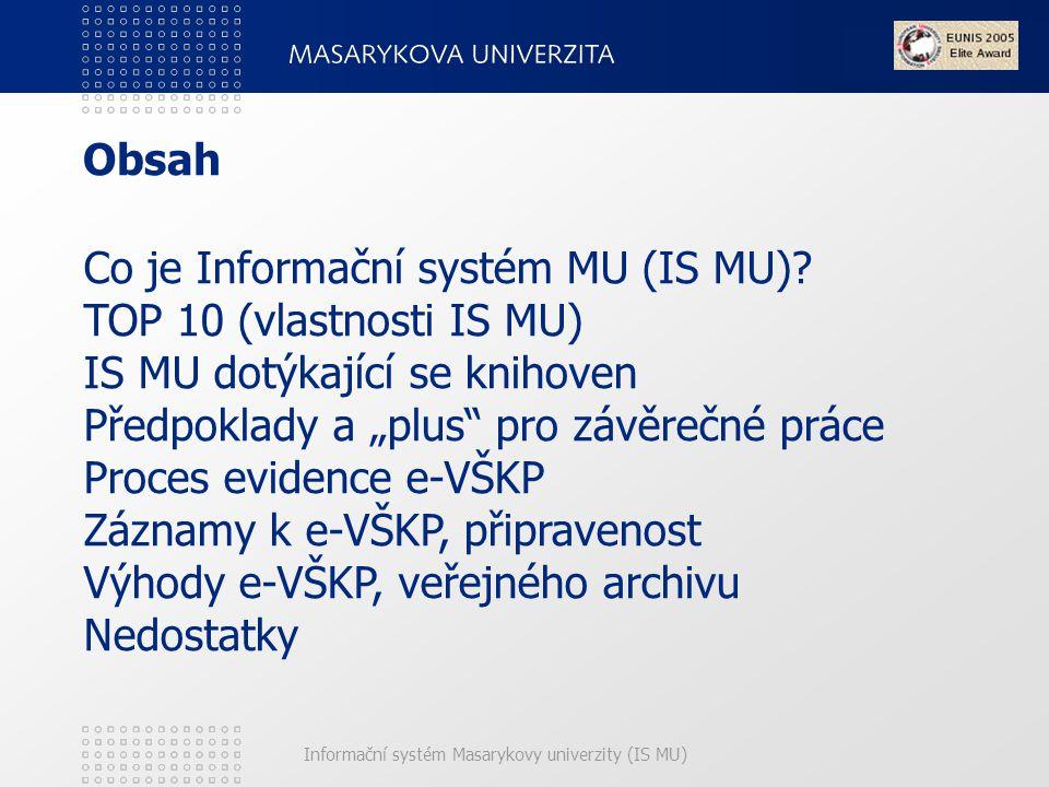 Co je Informační systém MU (IS MU)