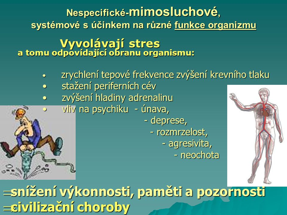 snížení výkonnosti, paměti a pozornosti civilizační choroby