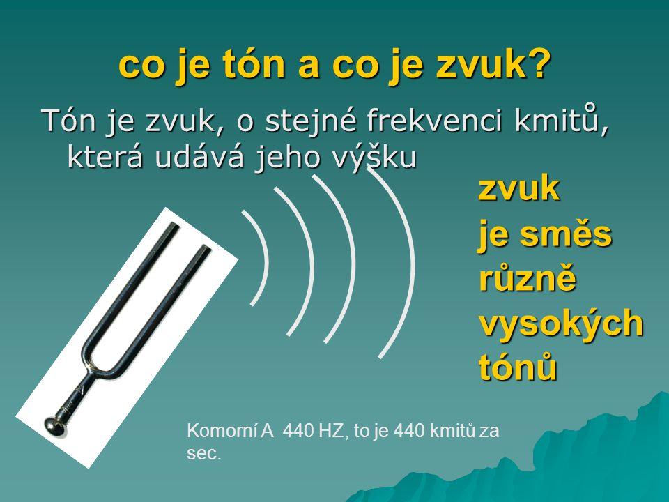 co je tón a co je zvuk zvuk je směs různě vysokých tónů