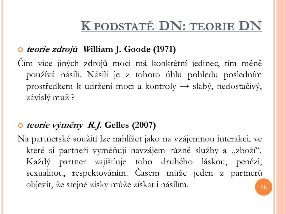 K podstatě DN: teorie DN