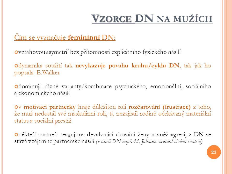 Vzorce DN na mužích Čím se vyznačuje femininní DN: