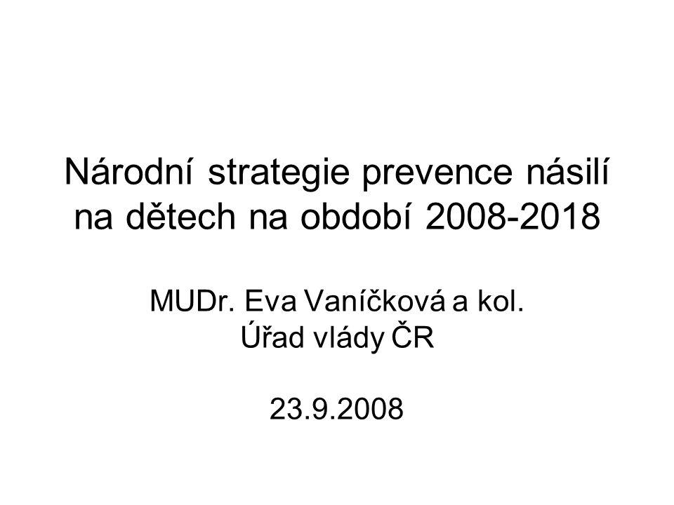 Národní strategie prevence násilí na dětech na období 2008-2018 MUDr