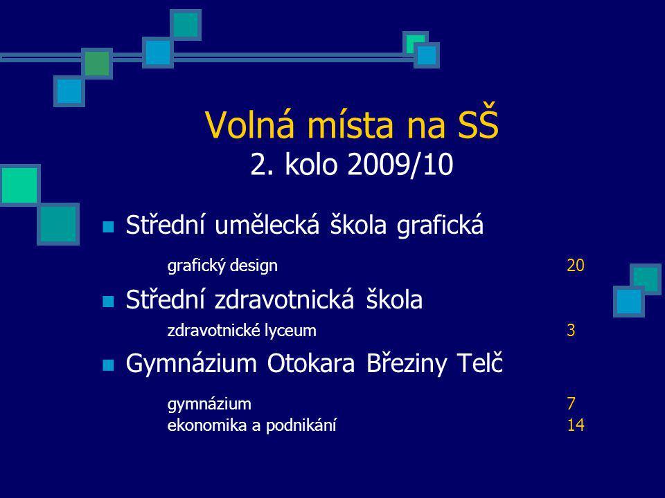 Volná místa na SŠ 2. kolo 2009/10 Střední umělecká škola grafická