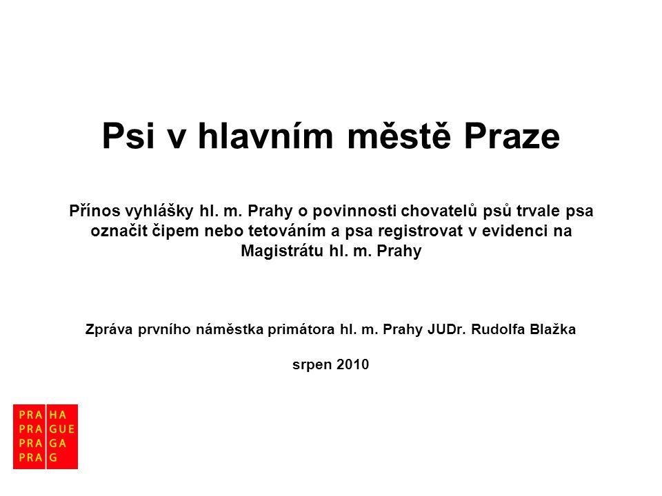 Psi v hlavním městě Praze Přínos vyhlášky hl. m