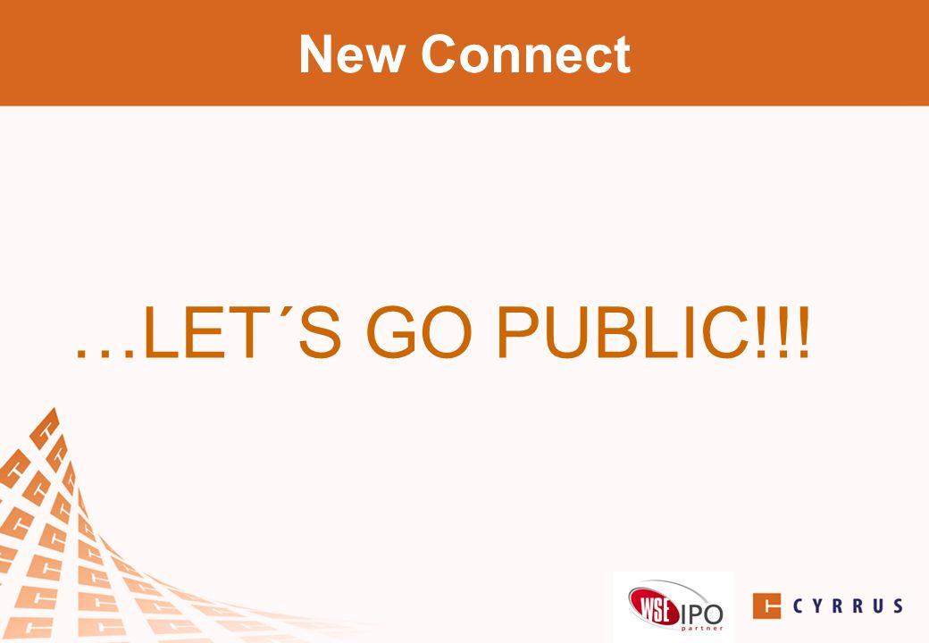 …LET´S GO PUBLIC!!! New Connect přeměna spol. – s.r.o. na a.s.