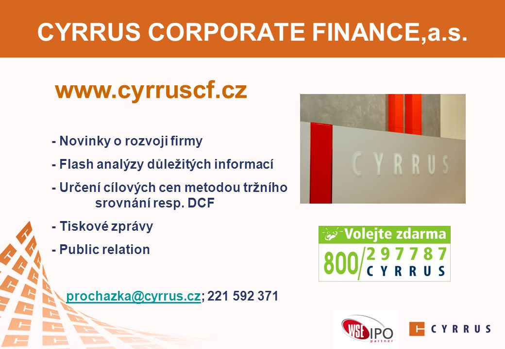 CYRRUS CORPORATE FINANCE,a.s.