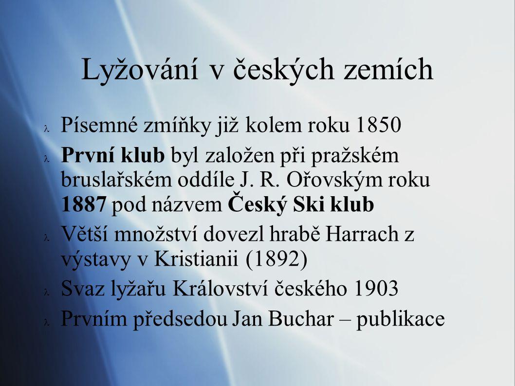 Lyžování v českých zemích