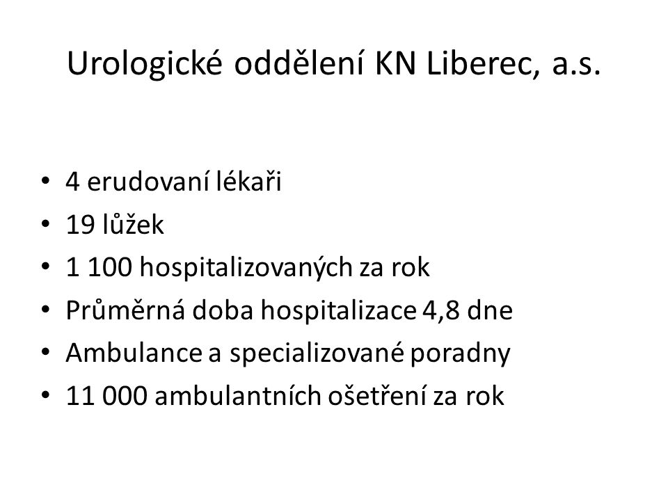 Urologické oddělení KN Liberec, a.s.