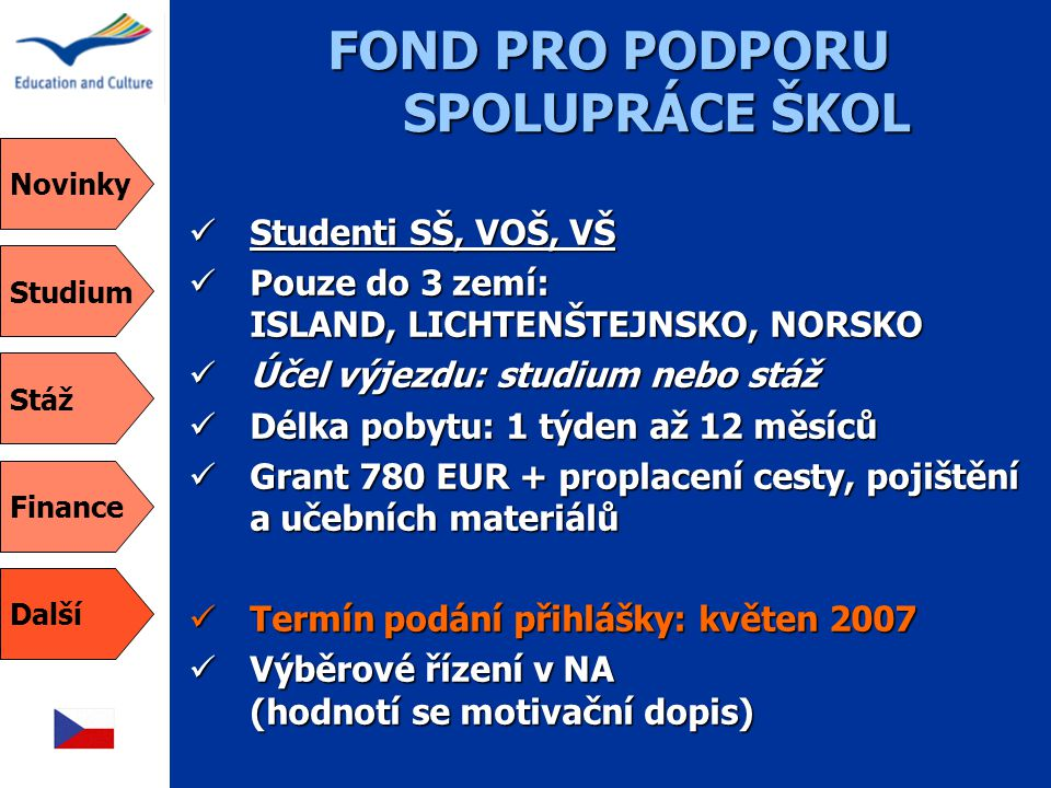 FOND PRO PODPORU SPOLUPRÁCE ŠKOL