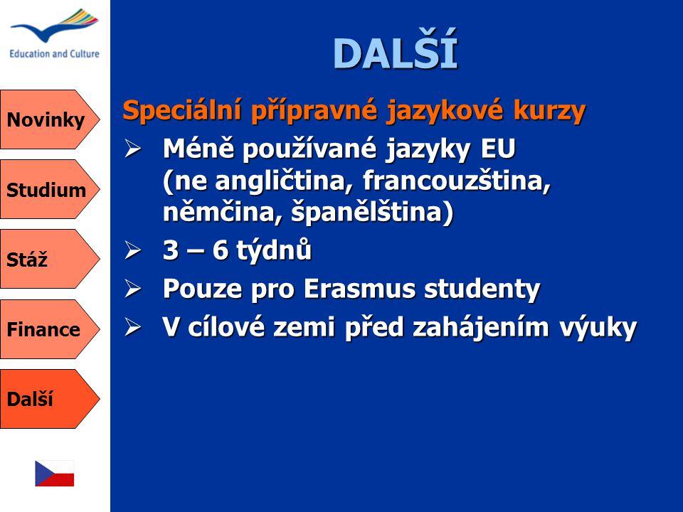 DALŠÍ Speciální přípravné jazykové kurzy