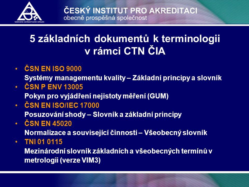 5 základních dokumentů k terminologii v rámci CTN ČIA