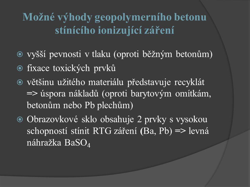 Možné výhody geopolymerního betonu stínícího ionizující záření