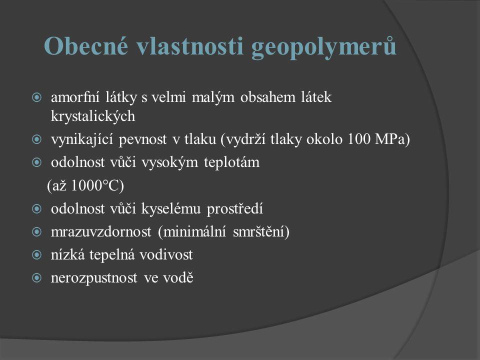 Obecné vlastnosti geopolymerů