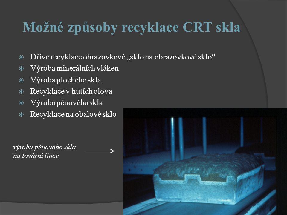 Možné způsoby recyklace CRT skla