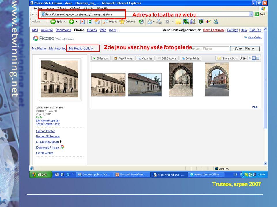 Adresa fotoalba na webu