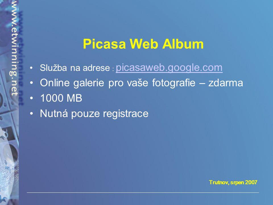 Picasa Web Album Online galerie pro vaše fotografie – zdarma 1000 MB