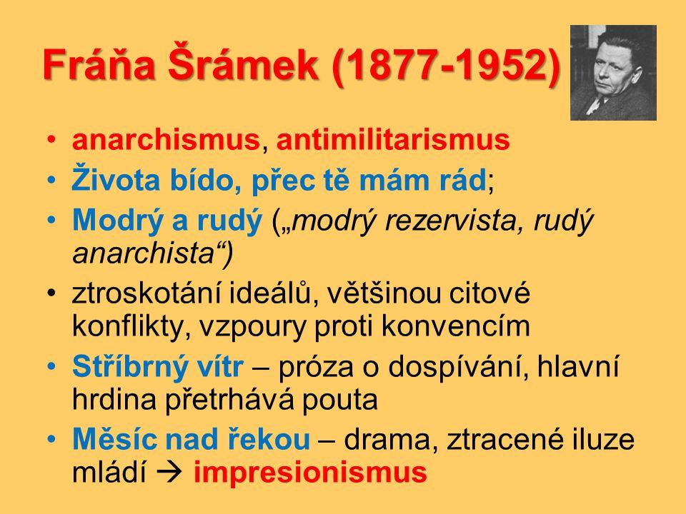 Fráňa Šrámek (1877-1952) anarchismus, antimilitarismus