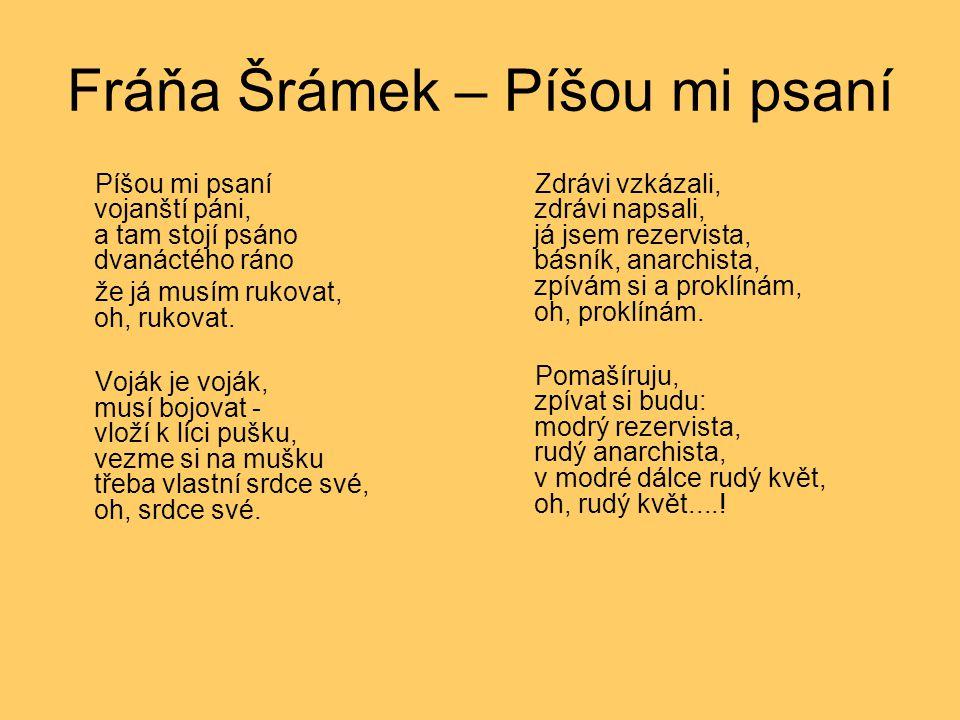 Fráňa Šrámek – Píšou mi psaní