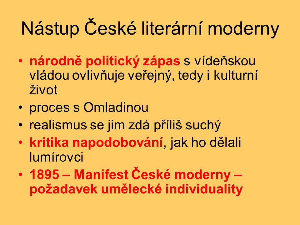 Nástup České literární moderny