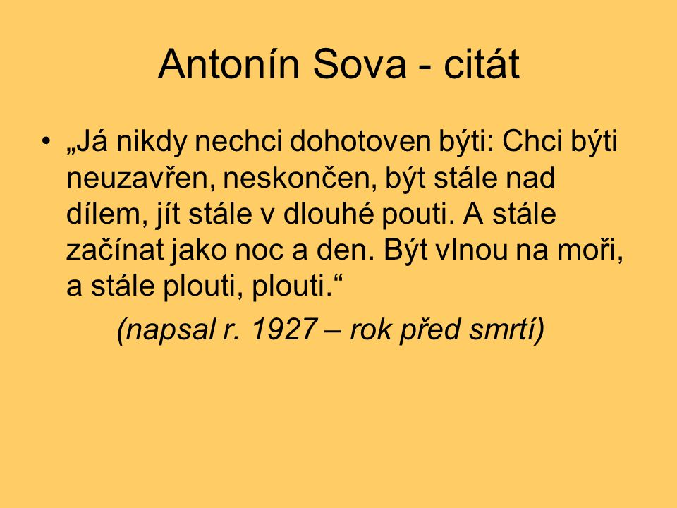Antonín Sova - citát