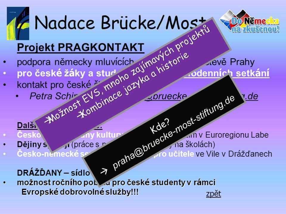 Nadace Brücke/Most Projekt PRAGKONTAKT