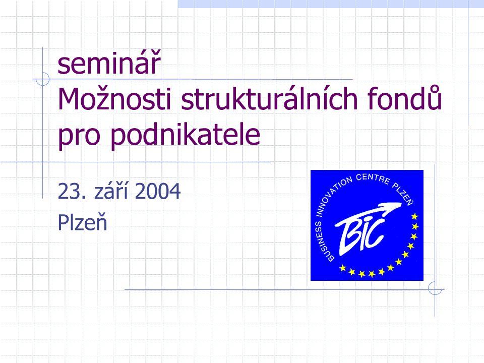 seminář Možnosti strukturálních fondů pro podnikatele