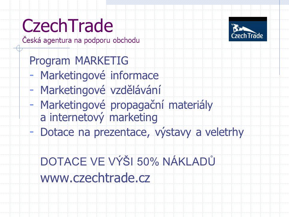 CzechTrade Česká agentura na podporu obchodu