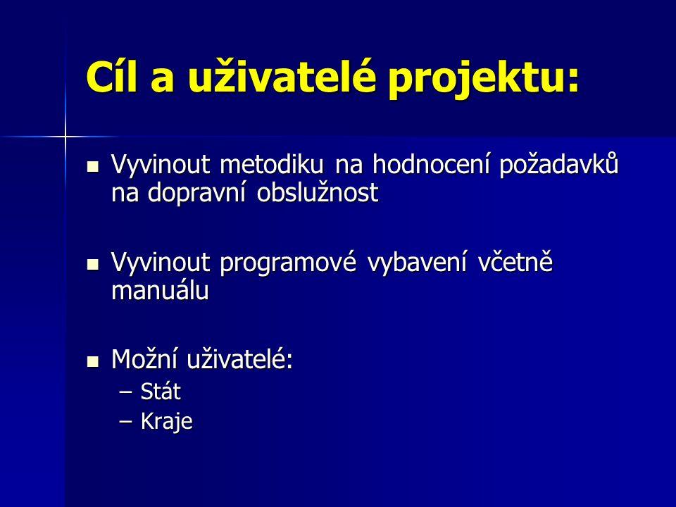 Cíl a uživatelé projektu: