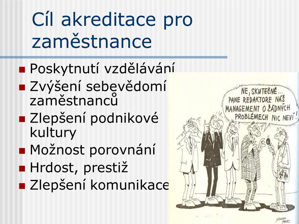 Cíl akreditace pro zaměstnance
