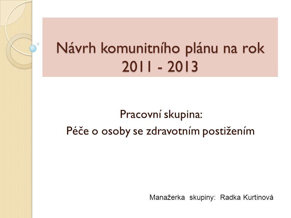 Návrh komunitního plánu na rok 2011 - 2013