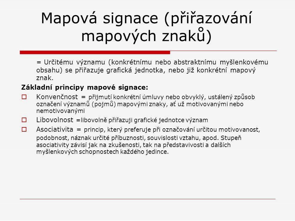 Mapová signace (přiřazování mapových znaků)