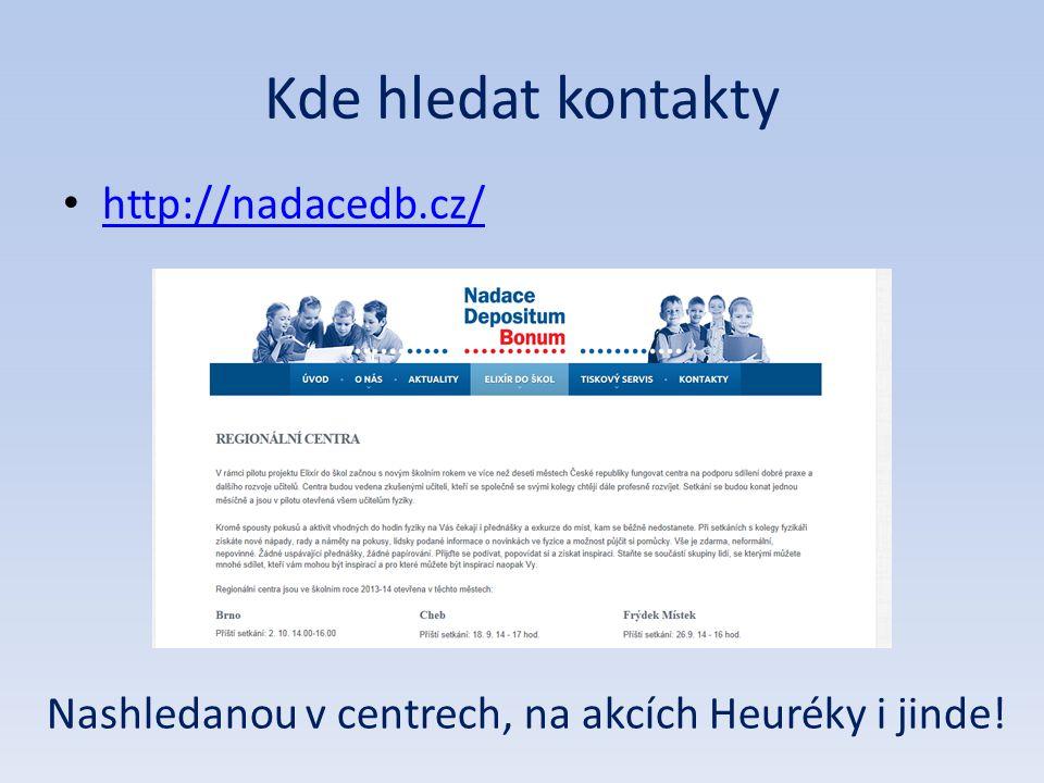 Nashledanou v centrech, na akcích Heuréky i jinde!