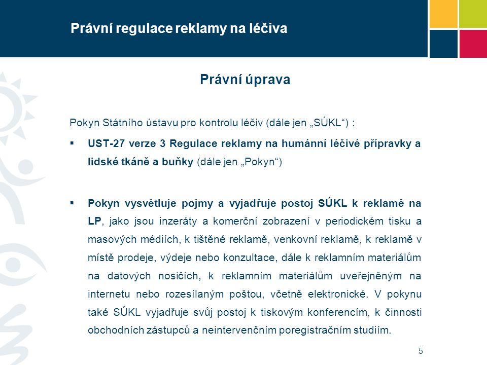 Právní regulace reklamy na léčiva