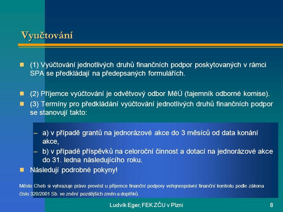 Ludvík Eger, FEK ZČU v Plzni
