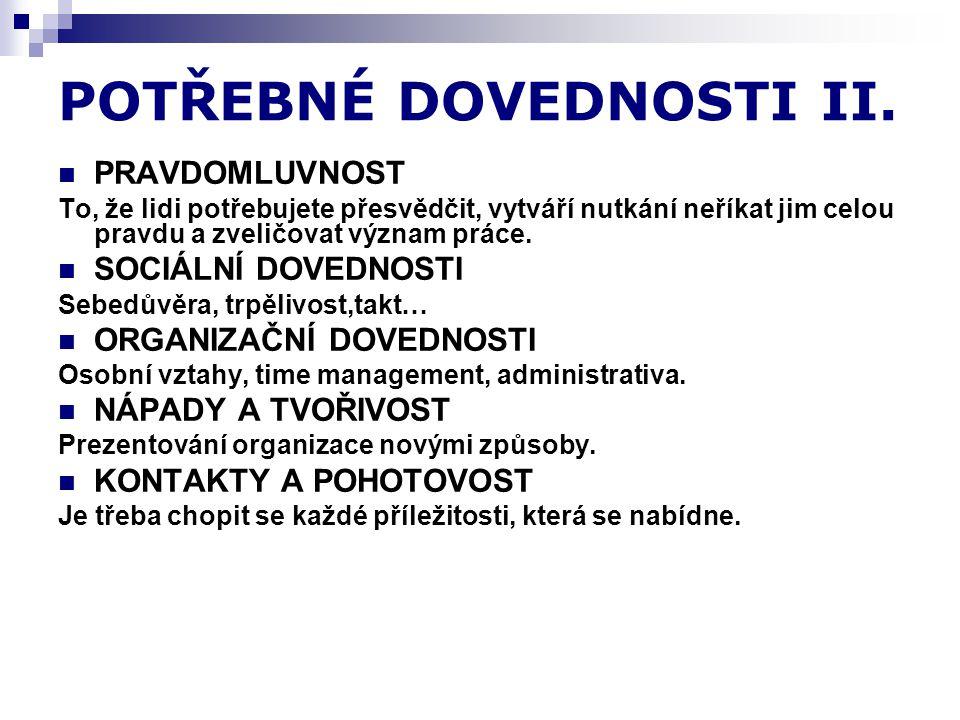 POTŘEBNÉ DOVEDNOSTI II.