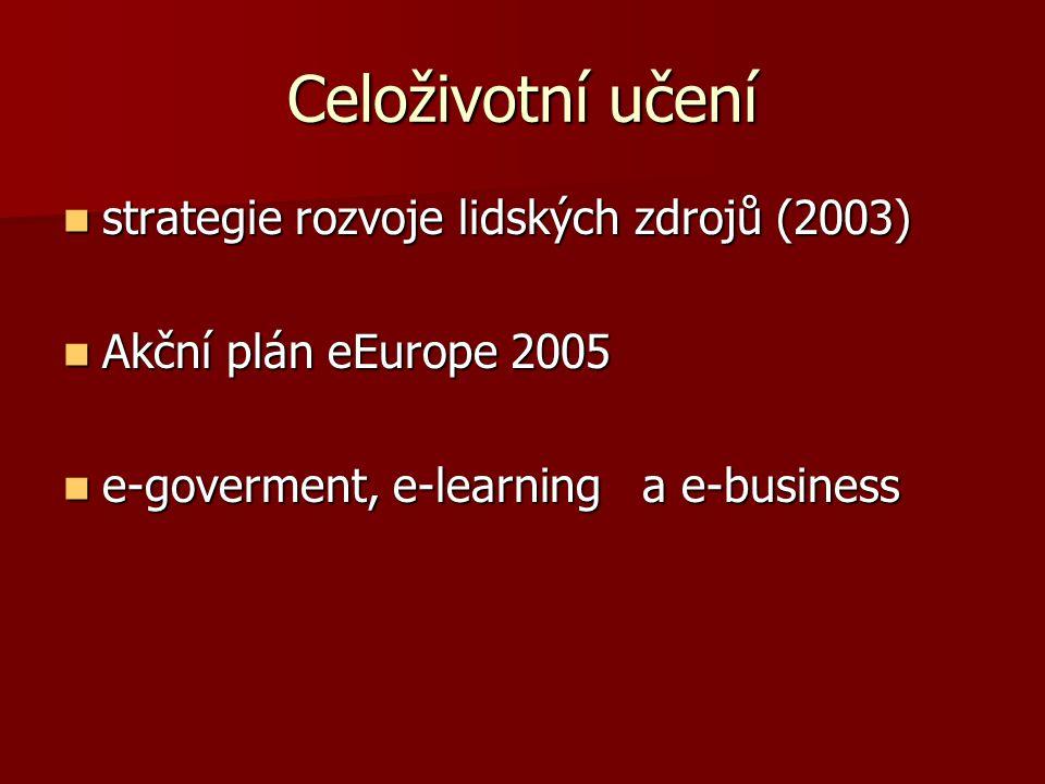 Celoživotní učení strategie rozvoje lidských zdrojů (2003)