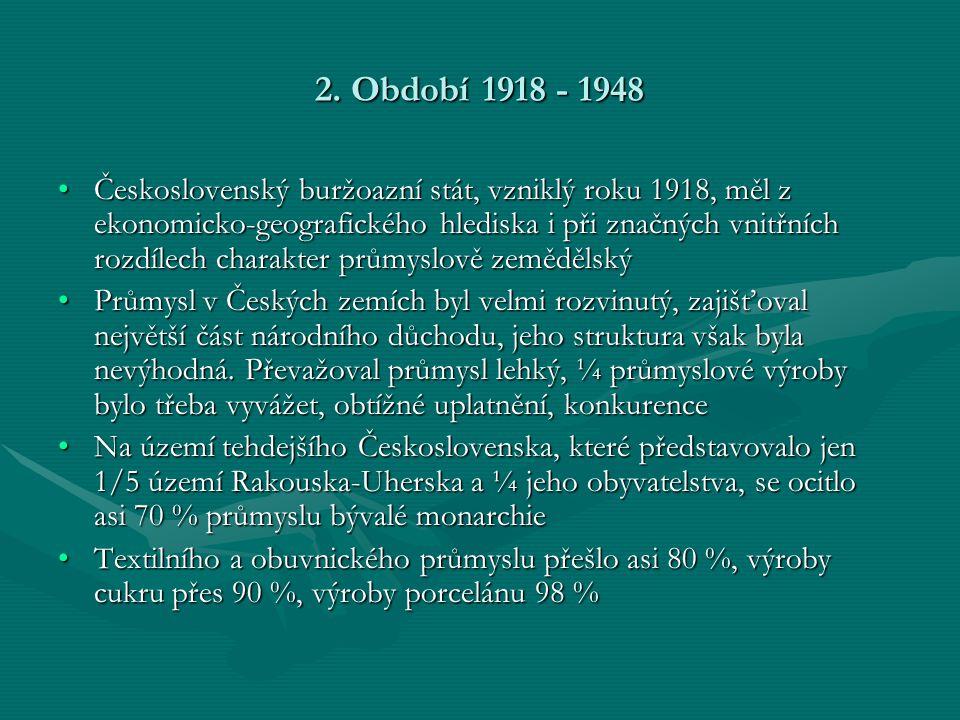 2. Období 1918 - 1948