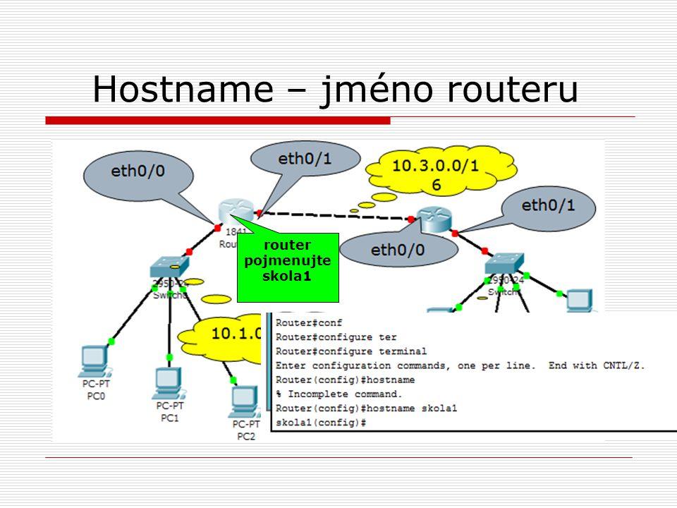 Hostname – jméno routeru