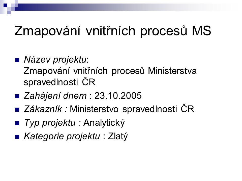 Zmapování vnitřních procesů MS