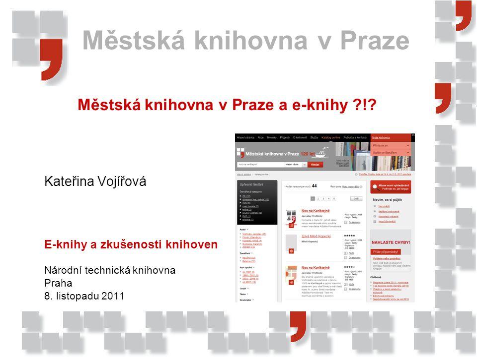 Městská knihovna v Praze a e-knihy !
