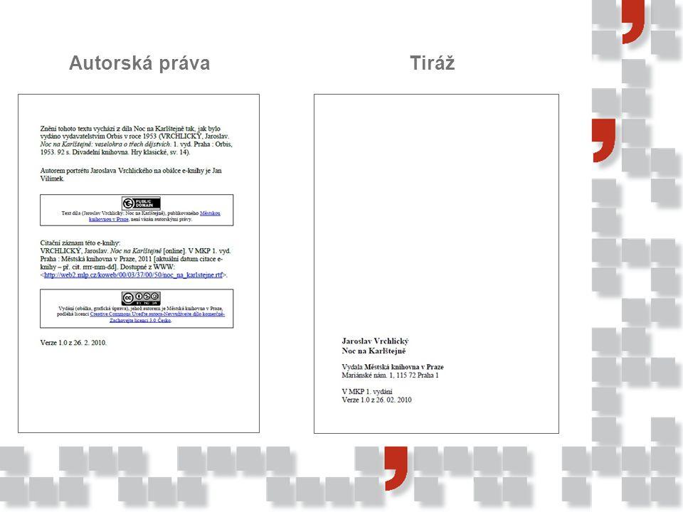 informace o zdroji, ze kterého e-kniha vychází