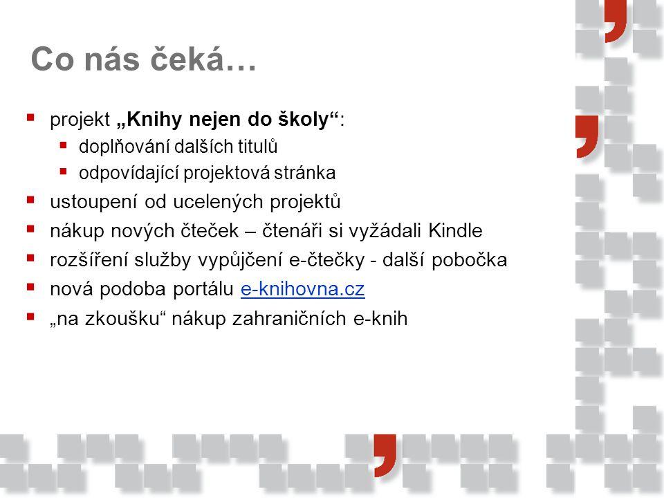 """Co nás čeká… projekt """"Knihy nejen do školy :"""