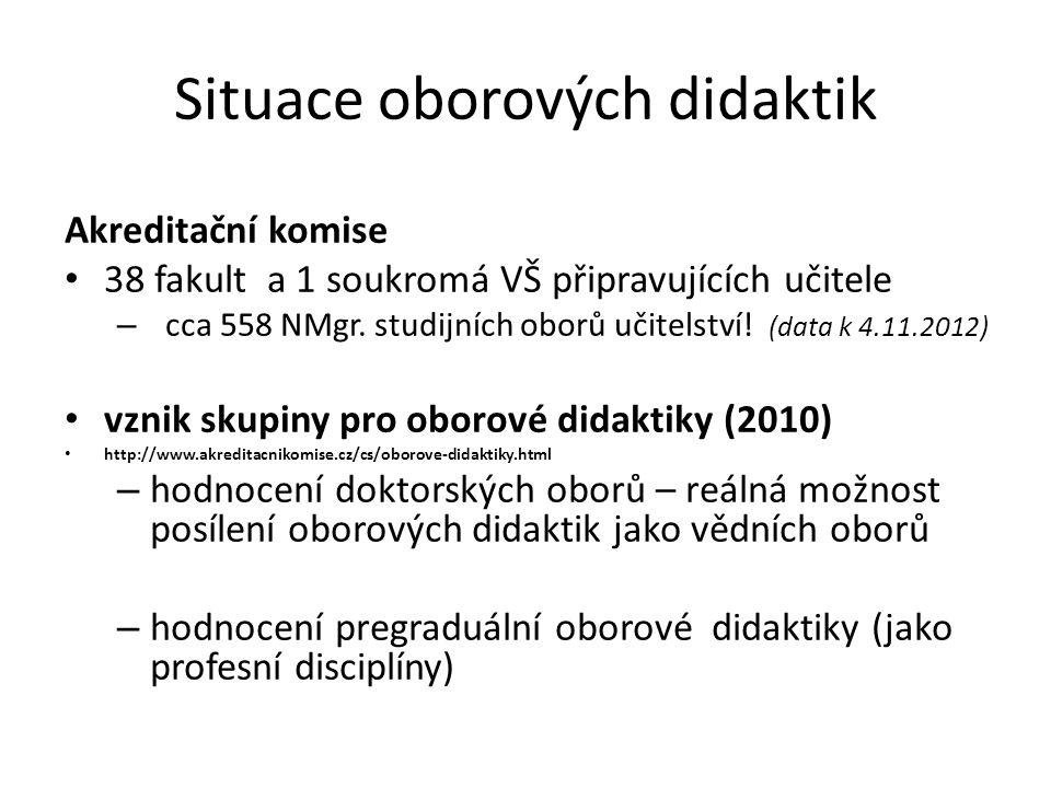 Situace oborových didaktik